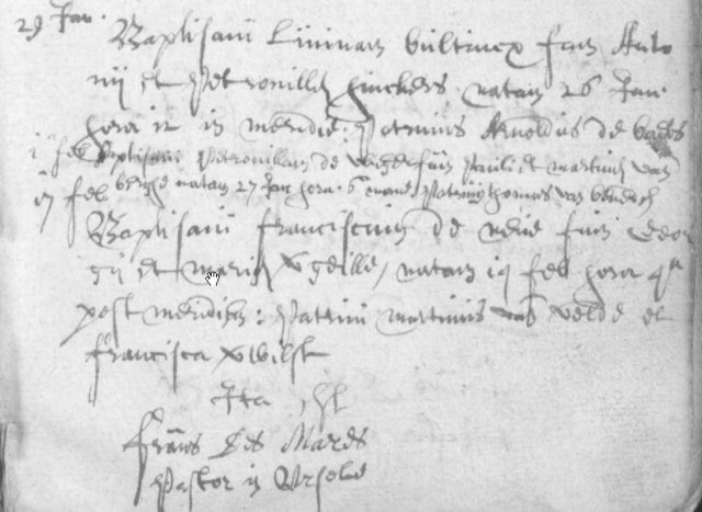 Doop Petronella De Vlieger (1654)