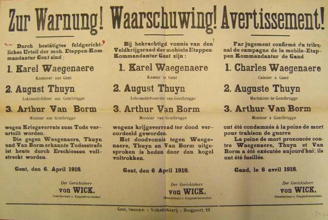 Fusillering Karel Waegenaer