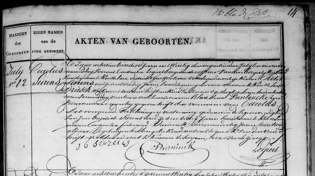 Geb. Carolus Sierens (1827)