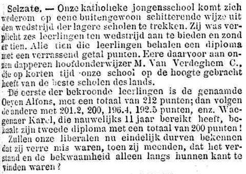 Het Nieuws Van Den Dag, 19 oktober 1894 Karel Waegenaer
