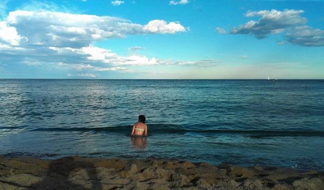 Zelie in het water