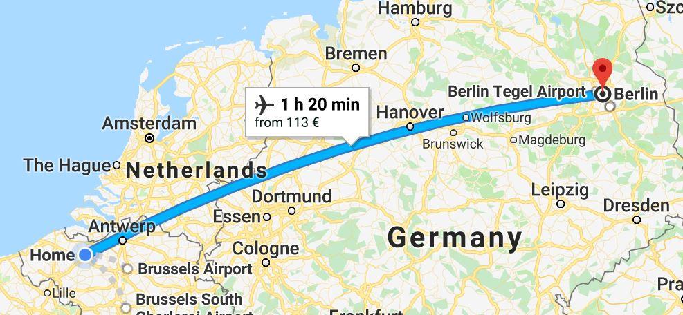 berlijn vliegtuig