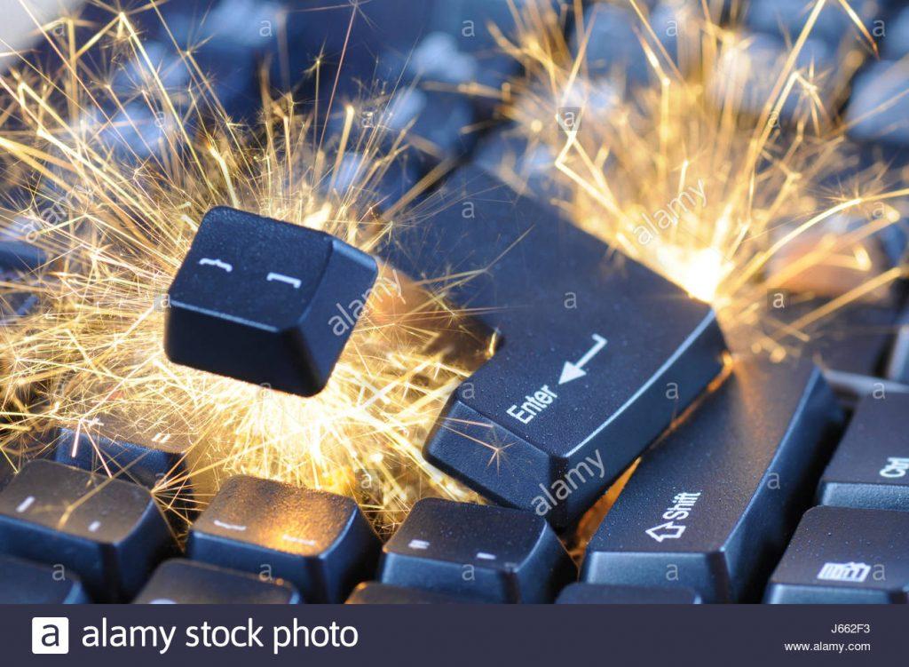 keyboard-pc-computers-computer-key-explosion-burst-sparks-danger-keyboard-J662F3